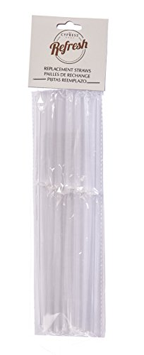 "Cypress Home 9.5-inch Acrylic Tumbler or Mason Jar Clear Replacement Straws, Set of 6-0.3""W x 0.2""D x 9.5""H"
