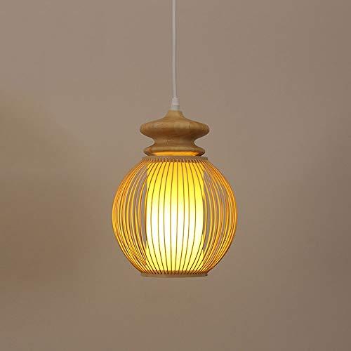 ZGZRXGY Sureste asiático estilo pastoral restaurante luces de decoración estilo japonés estilo de bambú simple lámpara de bambú tejida de mimbre colgante iluminación de estilo chino equipo de iluminac