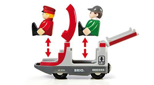 Brio World - 33512 - Circuit Plateforme Voyageurs - Coffret complet de 42 pièces - Circuit de train en bois sur 2 niveaux - Jouet mixte à partir de 3 ans