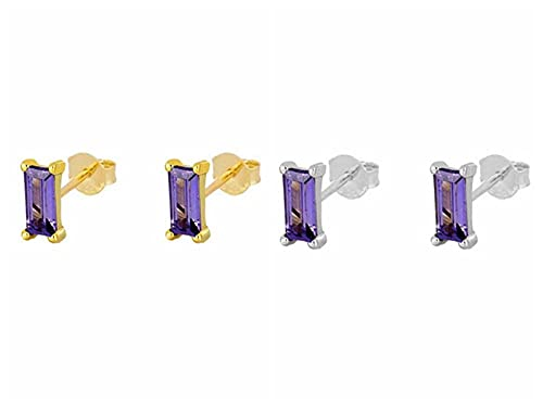 XAOQW 925 Plata de Ley Que Brilla Arco Iris zircón Coreano arering Aros de Pendiente para Lovers' Mujer Chica Pendientes-Veinte One_Gold Color