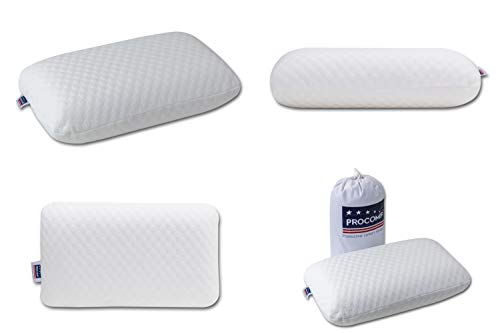 ProComf Travel and Camping Mate/Baby/Kid's/Teen's/Adult's Memory Foam Pillow (White)