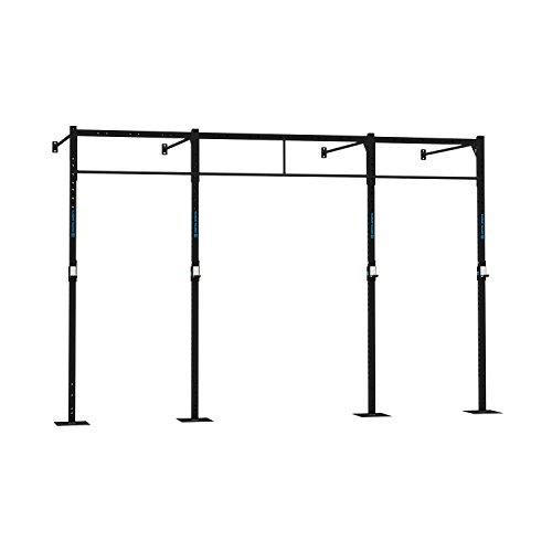 Capital Sports Dominate W 407.150 Wall Mount Rack Wandmontage Cross-Training Gym Rig Double-Bar Functional-Training 407 x 270 x 150 cm (J-Cups 4 x Pull-Up Station 2 x Squat Station) Stahl schwarz