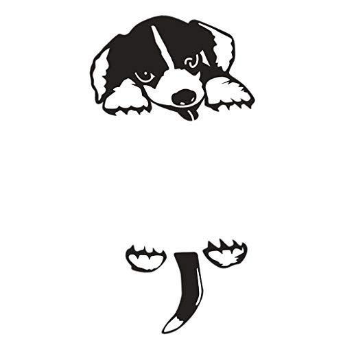 H HILABEE 5x Perro de Dibujos Animados Etiqueta Engomada Del Interruptor de Vinilo Interruptor de Pared Pegatinas de Enchufe Decoración Del Hogar