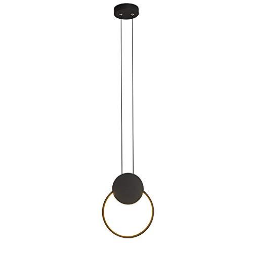 HJXDtech Lighting Minimalista moderno Diseño de luz colgante LED Lámpara de techo de Geometría de metal simple para sala de estar Dormitorio Cocina Isla (20CM)