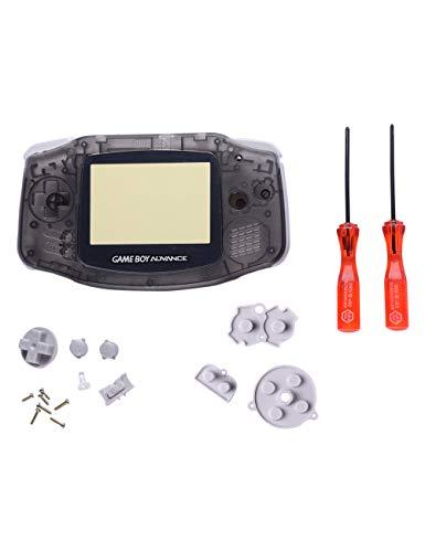 Gameboy Advance Gehäuse GBA Shell - Volle Teile Ersatz Gehäusehülle Abdeckung für Reparaturteile, Gummiknöpfe, Kreuz Y Schraubendreher SPDYCESS
