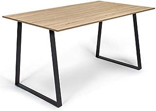IDMarket - Table à Manger Rosalie 6 Personnes Design Industriel 150 cm