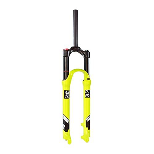 UPPVTE Horquilla Suspensión Aleación Aluminio, Tubo Recto 26/27.5/29 Pulgadas Horquilla De Aire Disco Freno, Recorrido 140mm QR 9mm para MTB Bike (Color : Straight Tube HL, Size : 27.5inch)