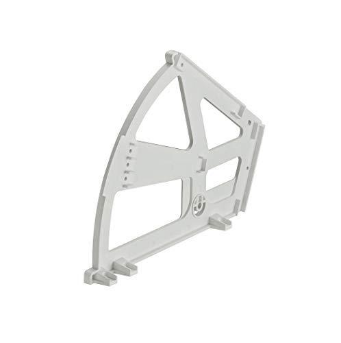 Gedotec Kippbeschlag für Schuhschränke Schuhablage mit 2-Fächern | Drehbeschlag Kunststoff weiß | Möbel-Scharnier zum Einbau in Schuh-Regal | 1 Stück - Schließ-Mechanismus für Schubladen & Türen