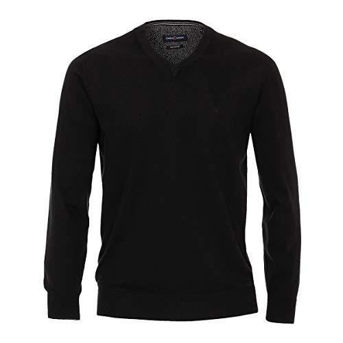 Casa Moda V-Ausschnitt Strick Pullover schwarz XXL, XL Größe:3XL