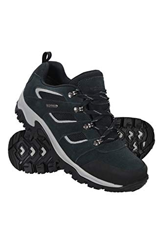 Mountain Warehouse Voyage Mens Waterproof Shoes - Lightweight Hiking Boots, Fast Dry Walking Boots, Eva Midsole, Mesh, Rubber Outsole Running Shoes - for Travelling Blue 6 UK