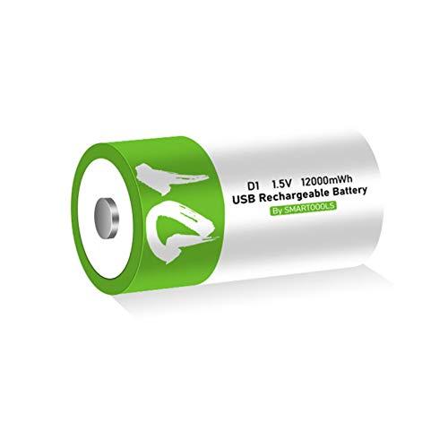 JooDaa Wiederaufladbare Batterie Nr. 1 Typ-C-Anschluss Direktladung Nr. 1 Batterie Erdgas-Gasherd Haushaltswarmwasserbereiter D1 Batterie