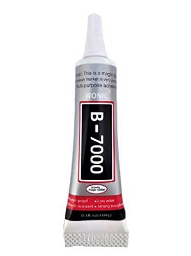 Pegamento B7000 transparente 15ml para reparación de móviles con punta metálica de precisión
