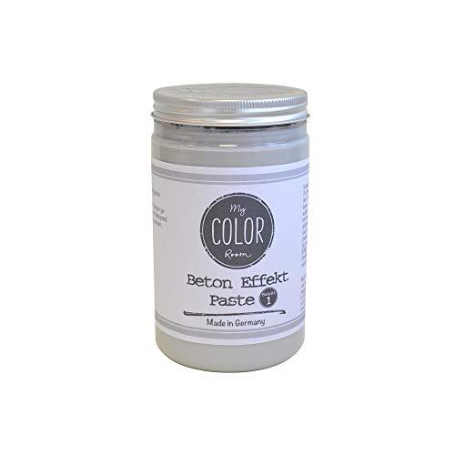 My COLOR Room® Beton Effekt (Grau, 390ml) Effekt Paste zum Basteln für drinnen und draußen - Betonoptik Farbe - Beton für Kreative - Beton Deko Aussen