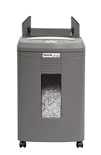 commercial heavy duty shredders BOXIS AutoShred 120 Sheet Shredder, Auto Feed and Microcontroller (AF120)