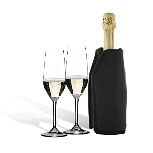 APQ - Funda para enfriador de vino con protector reutilizable de 15,2 x 22,5 x 2,0 cm para enfriador de vino (6 x 8,85 x 0,78 cm)