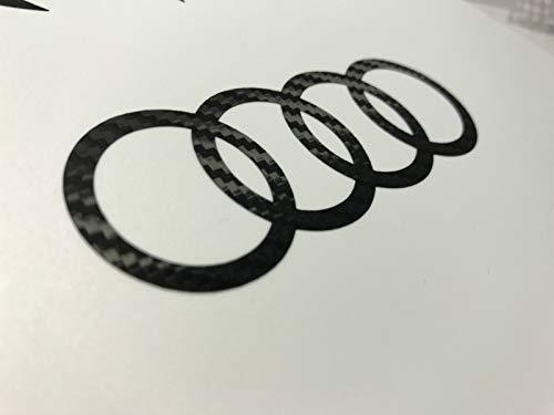 SUPERSTICKI kompatibel für Audi Ringe Carbon Auto Aufkleber Tuning ca 20cm Autoaufkleber,Tuning,Sticker,Decal,Autotuning,Aufkleber,UV&waschanlagenfest,Profi-Qualität