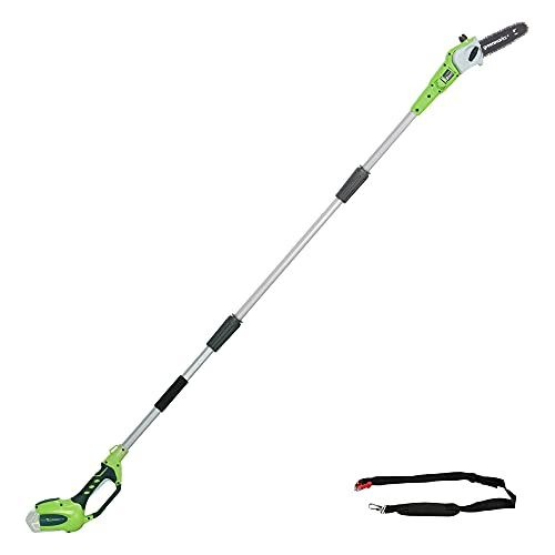 Greenworks 40V 8-Inch Cordless Pole Saw, Battery and Charger Not Included, 20302