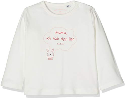 TOM TAILOR Kids TOM TAILOR Kids Baby-Mädchen 1/1 T-Shirt, Weiß (Cloud Dancer|White 1610), 80