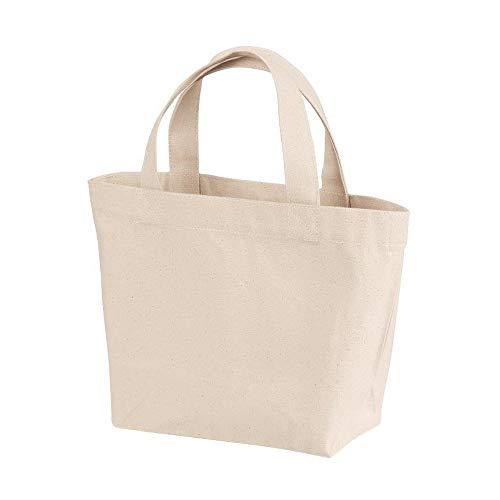 (ティーエヌケーカンパニー)Tnk&Co. トートバッグ Sサイズ #A2013 ランチバッグ 無地 キャンバス コンパクトサイズ (S, ナチュラル)
