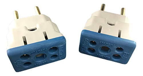 2 Plug Adaptador De Tomada 10a/20a Bob para secador/Microondas, Multicolor/Cores Sortidas.
