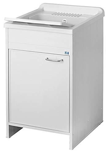 Negrari 9006K, Lavamanos para interior / exterior, Blanco, 45 x 50 x 87 cm