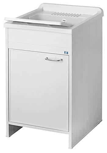 Negrari 9006K Lavatoio Lavapanni In Resina, Interno/Esterno, L 45 X D 50 X H 87 Cm, Bianco