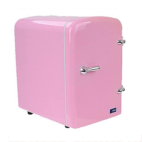 OutingStarcase 4L Frigorífico eléctrico portátil del coche 110W 12V USB Cool & Termostat Mini refrigerador Pesca compacta Camping Camping Fruta congelador (Color : Pink)