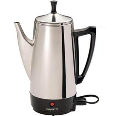 WalterDrake Presto 02811 12 Cup Stainless Steel Coffee Maker, CHROME