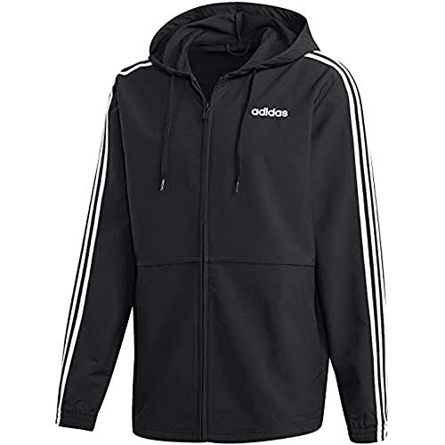 adidas Herren Essentials 3-Streifen Jacke, Black/White, XL