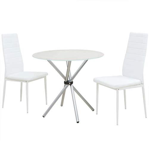 FAMIROSA Conjunto de mesas y sillas de Comedor de Tres Piezas