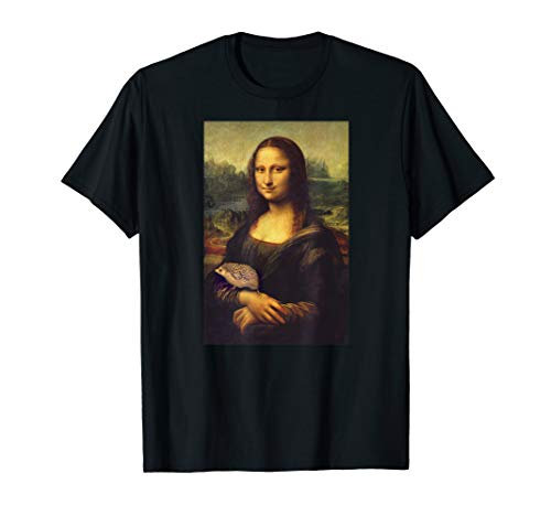 Mona Lisa Hedgehog Funny Art Shirt