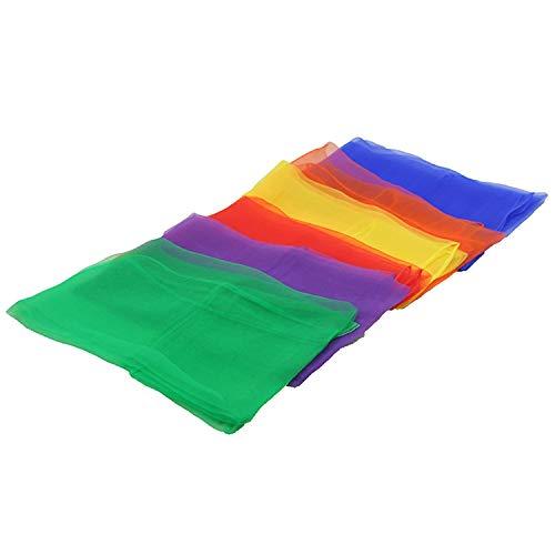Wencaimd Handtücher Jonglierschals mit 12 Stück 6 Farben quadratischen Rhythmus Jonglier Tanz Tanzen Schals for Kindergarten Bühne Leistung Tanzgruppe für die Dusche