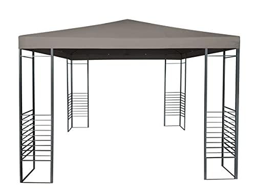 TrendLine Ersatzdach zu Pavillon Rio Polyester 3 x 3 m Taupe Sonnenschutz