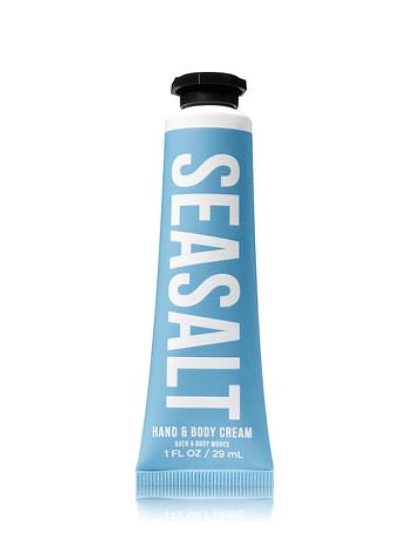 個人的な活気づけるドール【Bath&Body Works/バス&ボディワークス】 シアバター ハンド&ボディクリーム シーソルト Shea Butter Hand & Body Cream Sea Salt 1 fl oz / 29 mL [並行輸入品]