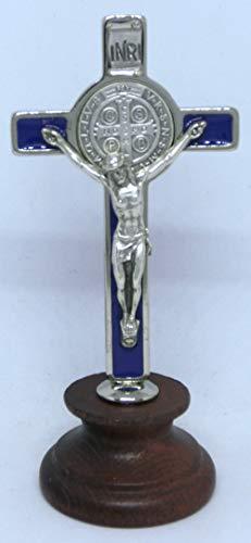 GTBITALY 10.006.11 San Benedetto nagellak blauw zilver geëmailleerd op basis van hout