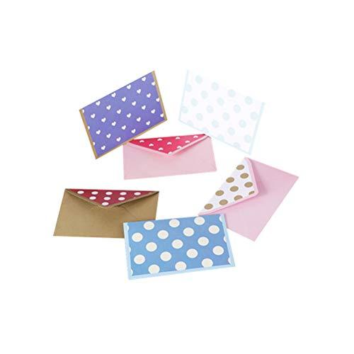 STOBOK 60 stücke Bunte Tupfen Einladung Umschläge Kreative Nette Umschläge Floral Umschläge Set für Alle Gelegenheiten (Zufälliges Muster)