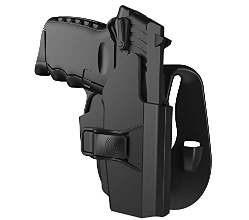 Paddle Holster for SCCY CPX-1 CPX-2, Right-Handed Holster for CPX-1RD CPX-2RD Gun, 60° Adjustable Level Ⅱ Retention Belt Pistol Holsters with Index Finger Release Button, Open Carry Holsters, Black