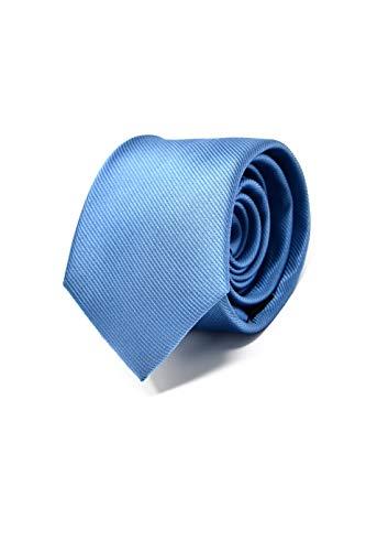 Oxford Collection Cravate Homme Bleu Clair - 100% en Soie - Classique, Elégante et Moderne - (Idéale pour un cadeau, un mariage, avec un costume, au t