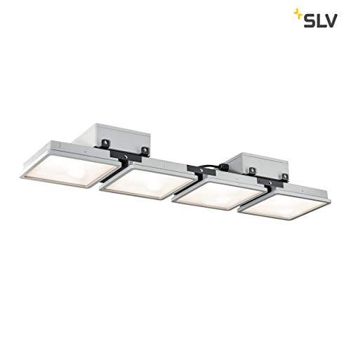 SLV ALMINO PD, quad, LED Outdoor Deckenaufbauleuchte, UGR<19, grey IP65 4000K Leuchte, Metall, 190 W, grau