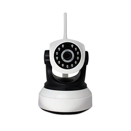 Wifi inalámbrico de seguridad de la cámara IP de larga distancia Night Vision 960P, comunicación de voz de dos vías, empuje de alarma, reproducción remota, soporte para IOS y Android (blanco)