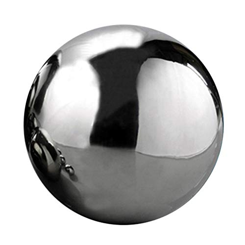 1pc Stainless Steel Hollow Ball Seamless Mirror Ball Sphere Gazing Ball for Home Garden Ornaments Decor