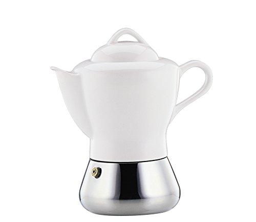 Cilio Espressokocher Nicole, 4 Tassen, Edelstahl, Porzellan, Induktion geeignet