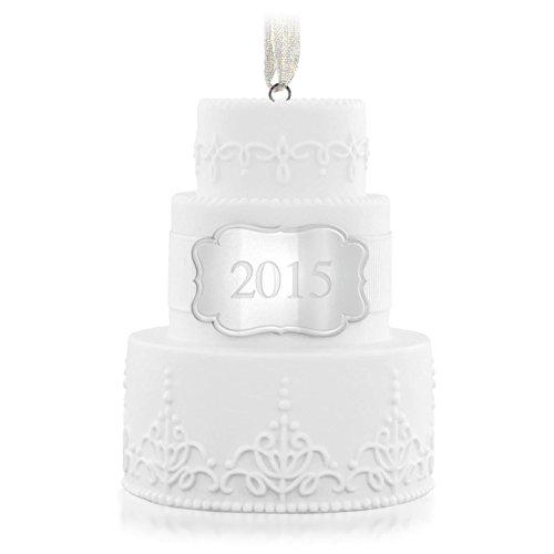 Hallmark Keepsake Ornament Wedding Cake 2015