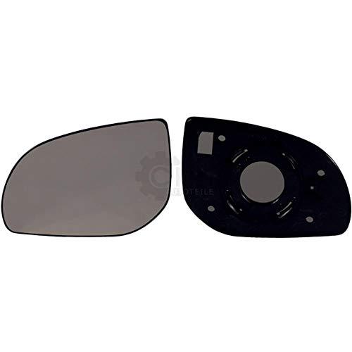 Spiegelglas + Haltefuss links für i10 konvex Außenspiegel