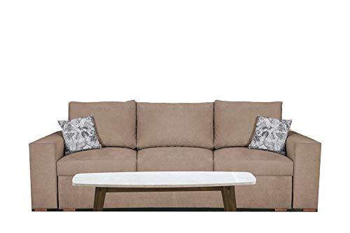 PM Sofa Schlaffunktion Bettfunktion Couch Polstergarnitur Wohnlandschaft Polstersofa Couchgranitur - Vegas (Beige)