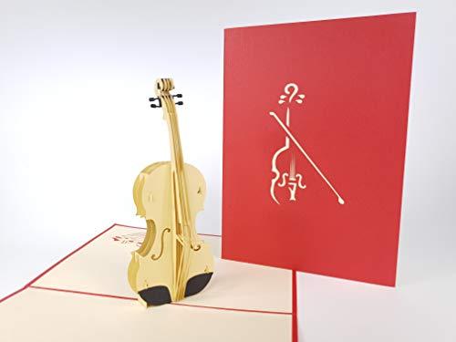 Carte de vœux pop up 3D faite à la main pour anniversaire, mariage, amitié, joyeux Noël, Thanksgiving, remerciement, bonne chance, bonne année, Saint Valentin Rouge