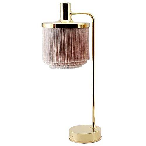 Metaalhoudende tafellampen met franjes lampshade lampshade elegante slaapkamer woonkamer study hardware lamp bedlampje