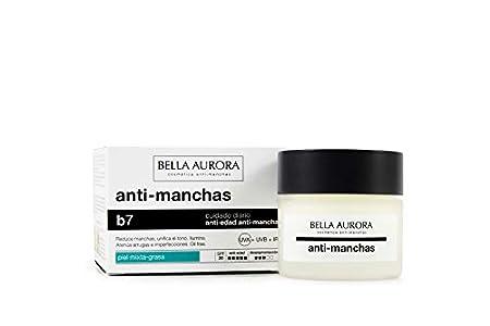 Bella Aurora Anti-manchas Crema Piel Mixta o Grasa SPF 20, 50 ml | Quitamanchas Cara Piel | Tratamiento para Manchas en la Cara | Despigmentador Facial | Anti-Edad | B7