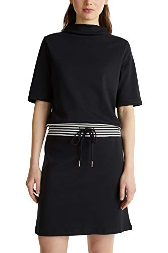 ESPRIT Damen 020EE1E315 Kleid, Schwarz (001/Black), XL