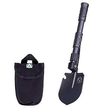 Zamper Pelle pliante multifonction compacte ? Camping Outdoor & Survival Gadget ? Pelle pliable avec sac